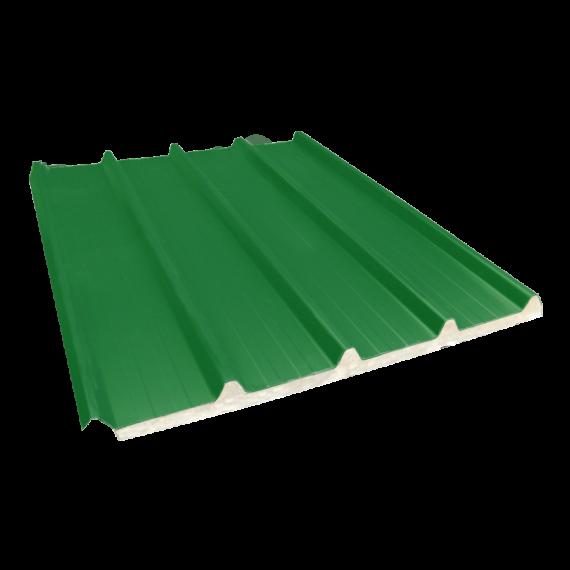 Tôle nervurée 33-250-1000 isolée économique 30 mm, vert reseda RAL6011 - 7 m