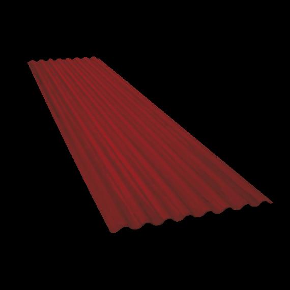 Tôle ondulée 15 ondes brun rouge RAL8012, épaisseur 0,60 - 4 m