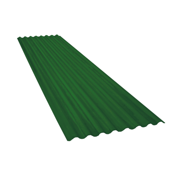 Tôle ondulée 15 ondes vert reseda RAL6011, épaisseur 0,60, 5,5 m