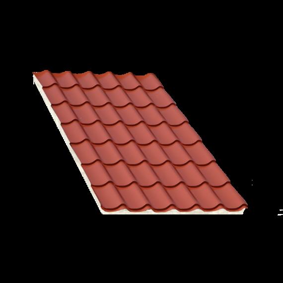 Tôle tuile isolée terra cotta, épaisseur 40 mm, 5 m