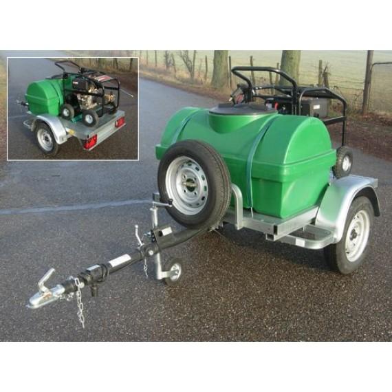 Pack nettoyeur haute pression 450 L sur chassis routier 750 kg