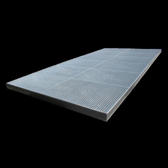 Pulvé bac 3 x 4 x 0.15 m (Lxlxh) - capacité 1800 Litres
