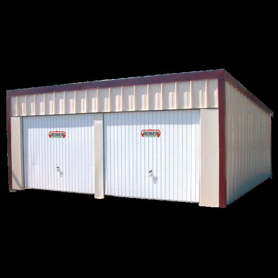 Garage double 1 pan en kit