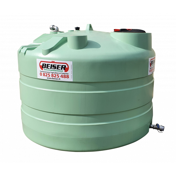 Citerne PEHD 12500 litres verticale 2400x3160