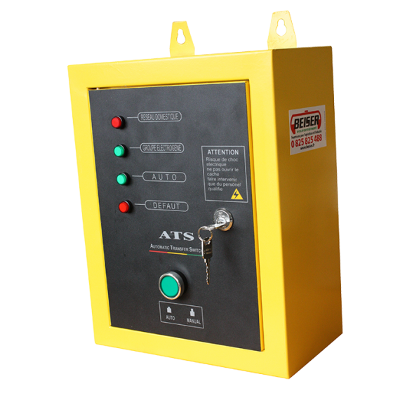 Boîtier ATS pour groupe électrogène diesel monophasé