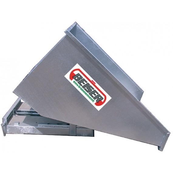 Benne basculante galvanisée 600 litres