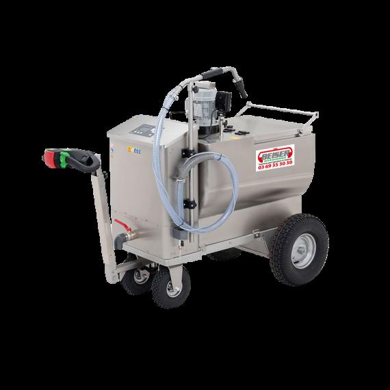 Chariot à lait 200 L inox avec distributeur 12 V