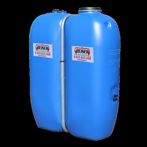 Citerne en plastique PEHD rectangulaire alimentaire 1 000 litres