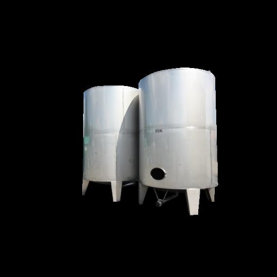 Citerne verticale inox d'occasion 12500 litres