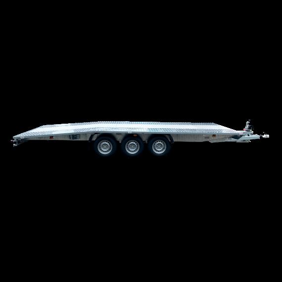 Remorque porte-engins DMC 3500 kg 3 essieux -  6 X 2,1 m