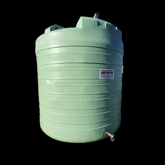 """Citerne PEHD 20000 litres verticale avec vanne 2"""""""