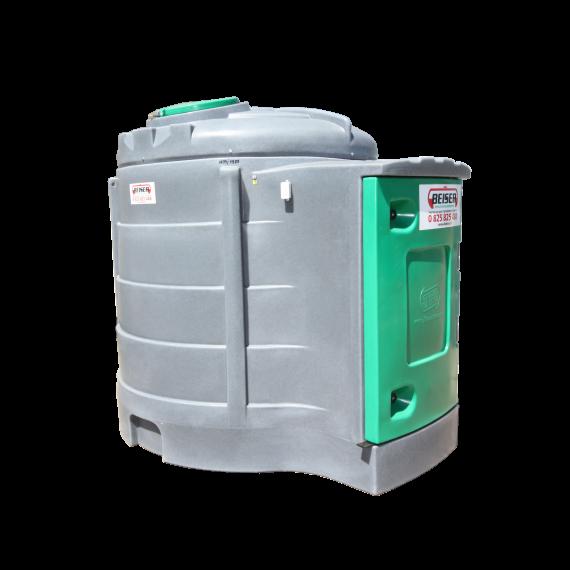 Station fuel verticale double paroi PEHD 2500 litres avec enrouleur 8M