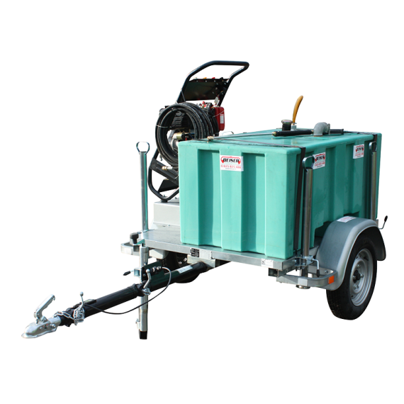 Pack nettoyeur haute pression 300 L sur chassis routier 750 kg (Diesel)