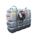 """Beiser Environnement - Station citerne fuel double paroi en plastique PEHD sans odeur 2000 L """"modèle Confort"""" avec limiteur de remplissage 2"""""""