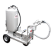 Beiser Environnement numéro 1 de la vente de citerne en Europe et spécialiste de l'équipement agricole - 05011200013 Chariot à lait 130 L inox avec distributeur 12 V débit 40 litres / minute - Vue de côté