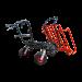 Brouette avec moteur électrique et support de charge tubulaire 4