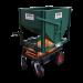 Chariot élévateur motorisé distributeur avec trémie et trappe