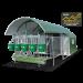 """BEISER ENVIRONNEMENT - Niche collective isolée 5 veaux avec toit coulissant """"4 étoiles"""" + caillebotis complet - vue de profil"""