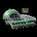 Beiser Environnement - Niche collectivre 16 veaux igloo isolée complète nouveau parc et caillebotis (niche+parc)