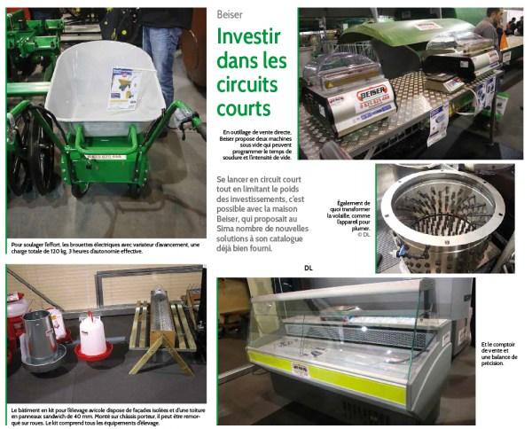 Beiser SIMA - Investir dans les circuits courts