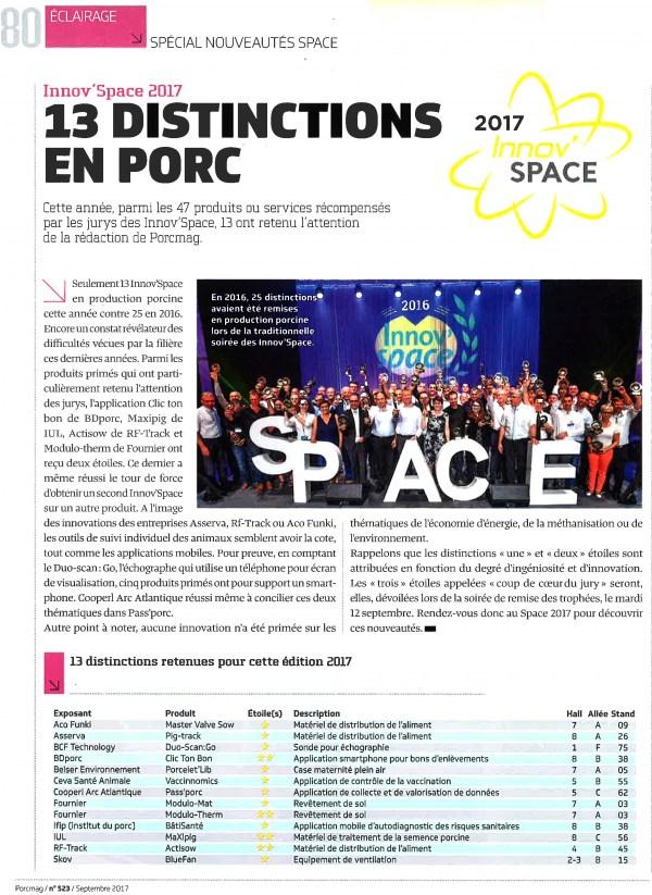 Innov'Space 2017 : 13 distinctions en porc